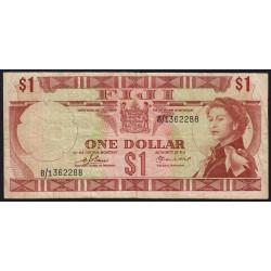 Fiji - Pick 71a - 1 dollar - 1974 - Etat : TB
