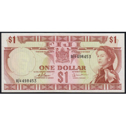 Fiji - Pick 71b - 1 dollar - 1974 - Etat : SUP+
