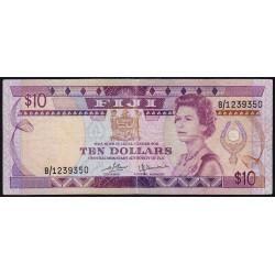 Fiji - Pick 79 - 10 dollars - 1980 - Etat : TB