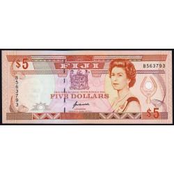 Fidji - Pick 93 - 5 dollars - 1992 - Etat : NEUF