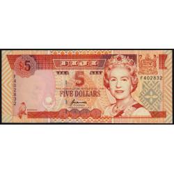 Fidji - Pick 97- 5 dollars - 1995 - Etat : NEUF