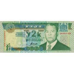Fiji - Pick 102a- 2 dollars - 2000 - Commémoratif - Etat : NEUF