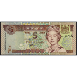Fidji - Pick 105b - 5 dollars - 2002 - Etat : NEUF