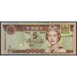 Fiji - Pick 105b - 5 dollars - 2002 - Etat : NEUF