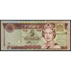 Fidji - Pick 105b - 5 dollars - 2002 - Etat : TTB
