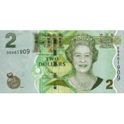 Fidji - Pick 109b - 2 dollars - 2011 - Etat : pr.NEUF