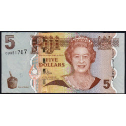 Fidji - Pick 110b - 5 dollars - 2011 - Etat : NEUF