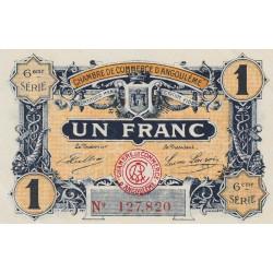Angoulême - Pirot 9-47 - 1 franc - 6ème série - 14/01/192 - Etat : SPL