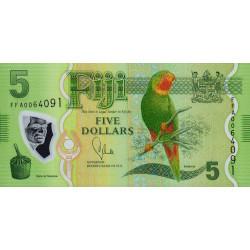Fiji - Pick 115a - 5 dollars - 2013 - Polymère - Etat : NEUF