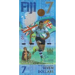 Fidji - Pick 120 - 7 dollars - 2016 - Commémoratif - Etat : NEUF