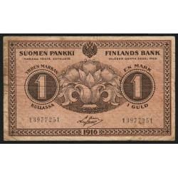 Finlande - Pick 19_7 - 1 markka - 1916 - Etat : TB-