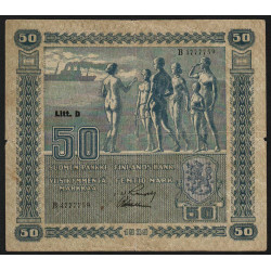 Finlande - Pick 72_8 - 50 markkaa - 1939 - Litt.D - Etat : TB+