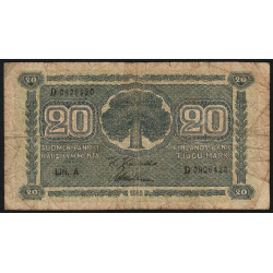 Finlande - Pick 78_1 - 20 markkaa - 1945 - Litt.A - Etat : B