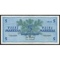 Finlande - Pick 103_18 - 5 markkaa - 1963 - Litt.A - Etat : TB+