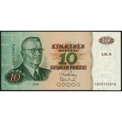 Finlande - Pick 112_11 - 10 markkaa - 1980 - Litt.A - Etat : TTB+