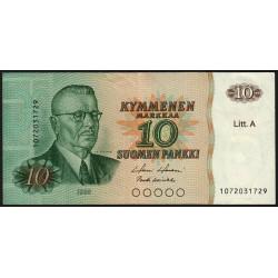 Finlande - Pick 112_19 - 10 markkaa - 1980 - Litt.A - Etat : TTB