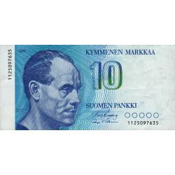 Finlande - Pick 113_10 - 10 markkaa - 1986 - Etat : TTB