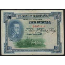 Espagne - Pick 69a - 100 pesetas - 01/07/1925 - Série B - Etat : TB+