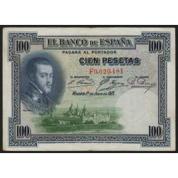 Espagne - Pick 69c - 100 pesetas - 1936 - Série F - Etat : TTB