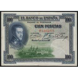 Espagne - Pick 69c - 100 pesetas - 1936 - Série F - Etat : TTB+