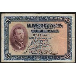 Espagne - Pick 71a - 25 pesetas - 10/10/1926 - Série B - Etat : TB
