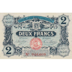 Angoulême - Pirot 9-49 - 2 francs - 1920 - Etat : SPL