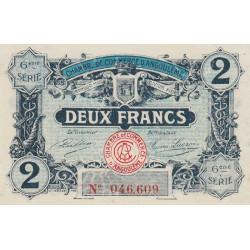 Angoulême - Pirot 9-49 - 2 francs - 6ème série - 14/01/192 - Etat : SPL