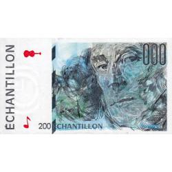 Ravel - Format 200 francs EIFFEL - DIS-05-A-03 - Etat : SUP