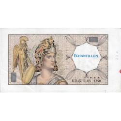 Athena à gauche - Format 200 francs MONTESQUIEU - DIS-03-F-03 variété 3 - Etat : TTB+