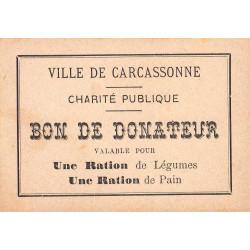 11 - Carcassonne - Charité publique - Légumes - Pain - Etat : SPL