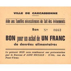 11 - Carcassonne - Aide aux familles nécessiteuses - 1 franc - Etat : NEUF