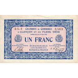 Alençon / Flers (Orne) - Pirot 6-17 - 1 franc - Série 2L1 - 10/08/1915 - Etat : SUP+