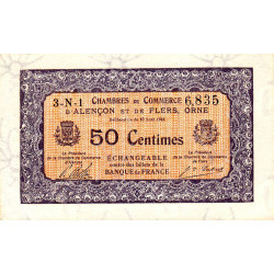 Alençon / Flers (Orne) - Pirot 6-33 - 50 centimes - 1915 - Etat : SPL