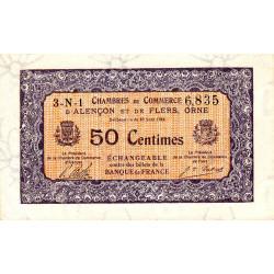 Alençon / Flers (Orne) - Pirot 6-33 - 50 centimes - Série 3N1 - 10/08/1915 - Etat : SPL