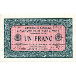 Alençon / Flers (Orne) - Pirot 6-42 - 1 franc - Série 5D1 - 10/08/1915 - Etat : pr.NEUF
