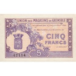 38 - Grenoble - Union des Magasins - 5 francs - 1950 - Etat : NEUF