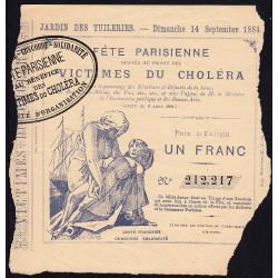 1884 - Fête Parisienne - Loterie - Victimes du Choléra - Etat : TB