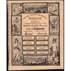 Guadeloupe - Loterie coloniale - 1 franc - 1883 - Etat : TB+