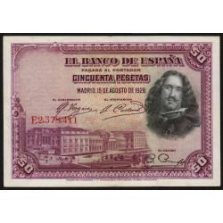 Espagne - Pick 75c - 50 pesetas - 1936 - Série E - Etat : SUP