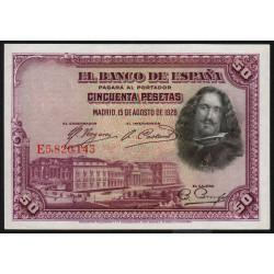 Espagne - Pick 75c - 50 pesetas - 1936 - Série E - Etat : SPL