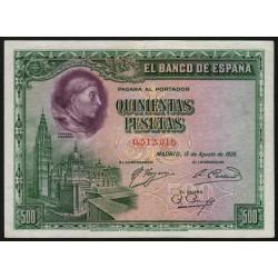 Espagne - Pick 77a - 500 pesetas - 15/08/1928 - Sans série - Etat : TTB+