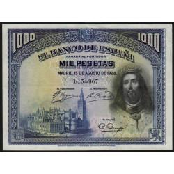 Espagne - Pick 78a - 1'000 pesetas - 15/08/1928 - Sans série - Etat : SUP