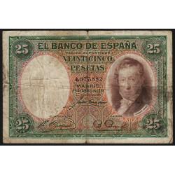 Espagne - Pick 81 - 25 pesetas - 25/04/1931 - Sans série - Etat : B+