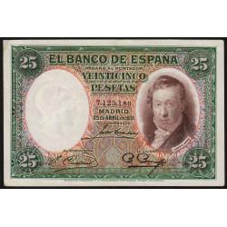 Espagne - Pick 81 - 25 pesetas - 25/04/1931 - Sans série - Etat : SUP