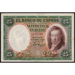 Espagne - Pick 81 - 25 pesetas - 25/04/1931 - Sans série - Etat : TTB