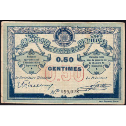 Dieppe - Pirot 52-1b - 50 centimes - Etat : TB+