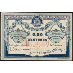 Dieppe - Pirot 52-1b - 50 centimes - Sans date (1915) - Etat : TB+