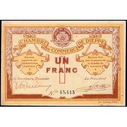 Dieppe - Pirot 52-4b - 1 franc - 1915 - Etat : SUP