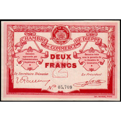 Dieppe - Pirot 52-7a - 2 francs - 1915 - Etat : SUP