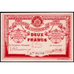 Dieppe - Pirot 52-7a - 2 francs - Sans date (1915) - Etat : SUP